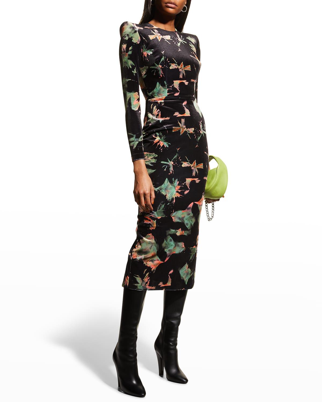 Piers Velvet Midi Dress