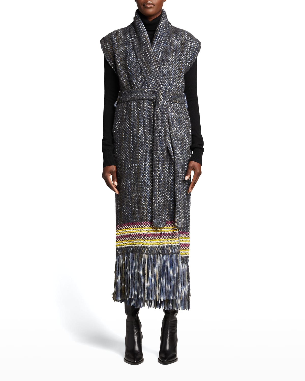 Tanoira Belted Cashmere Vest