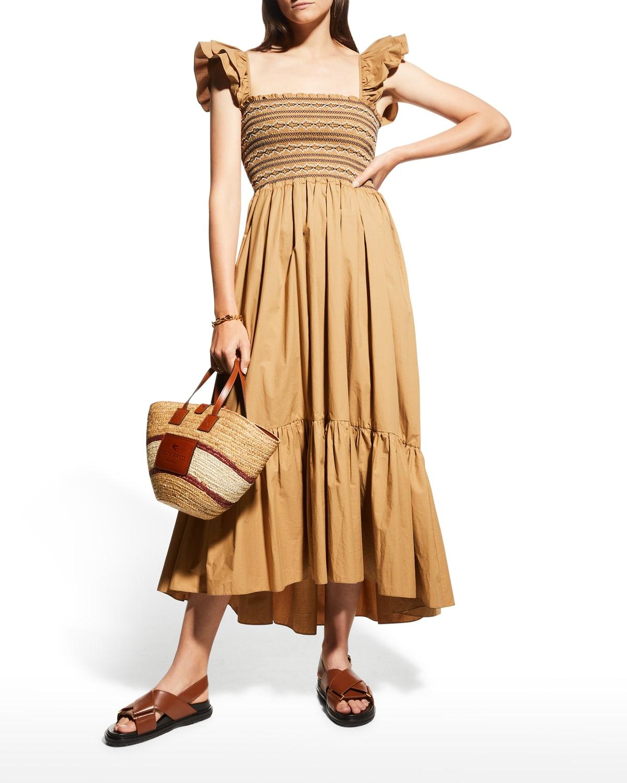 Ruby Square-Neck Midi Dress