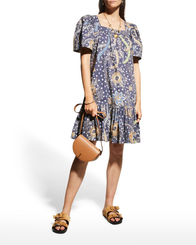 Janie Batik-Print Cotton Dress