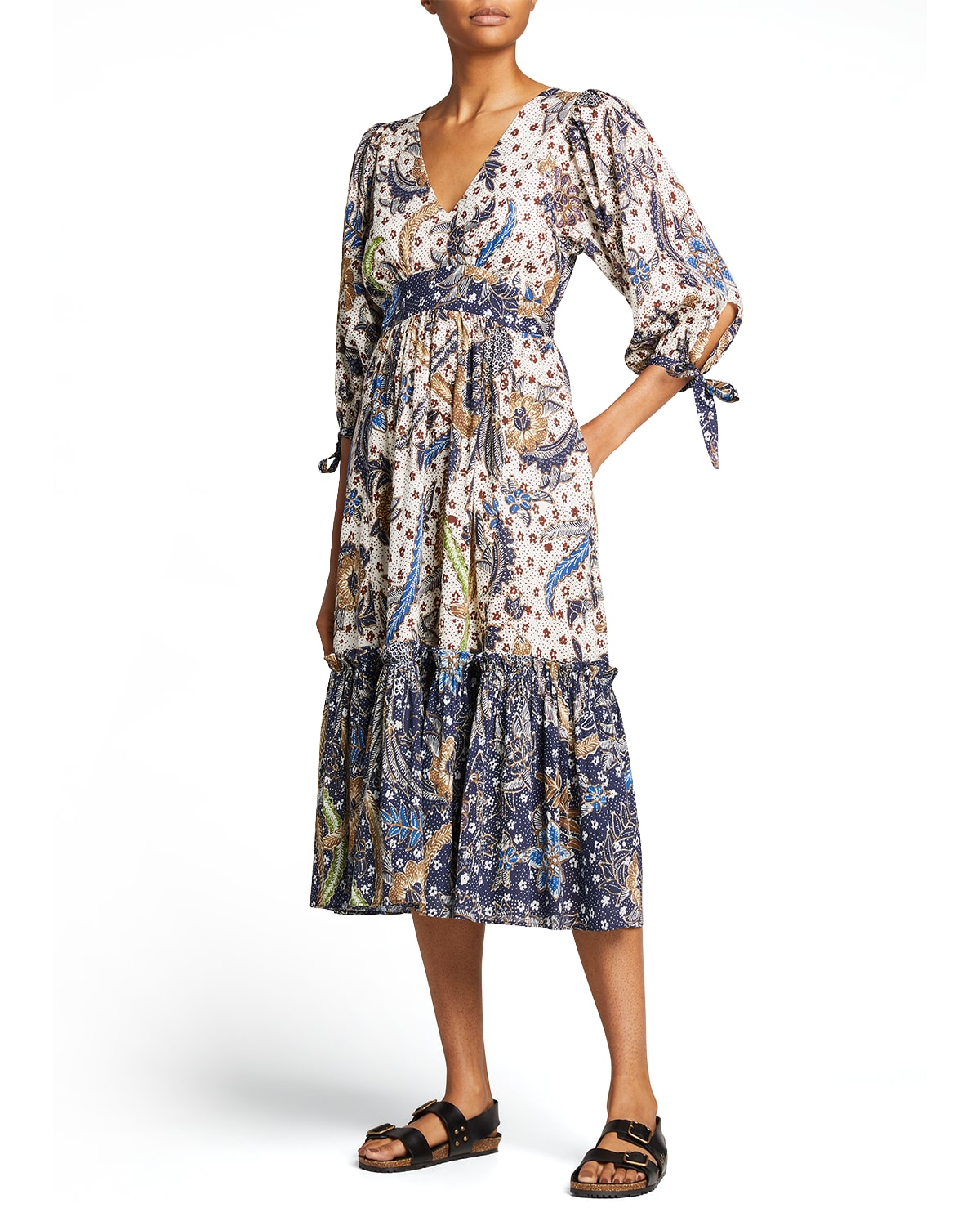 Round Hill Embroidered Voile Dress
