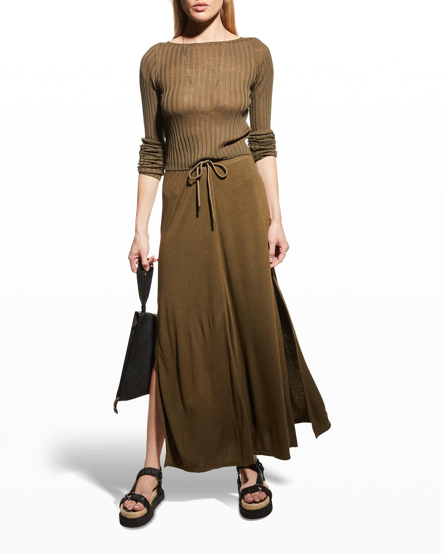 Modal Jersey Maxi Pull-On Skirt
