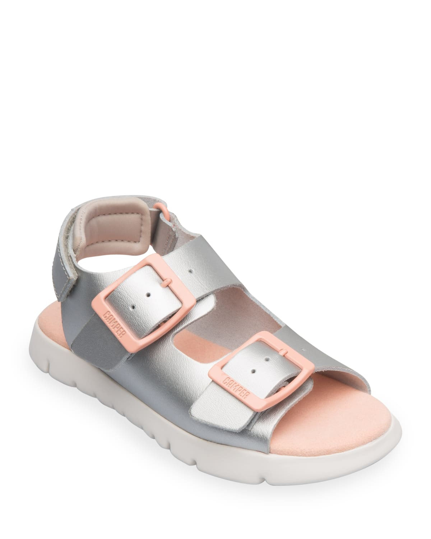 Kid's Oruga Leather Buckle Sandals