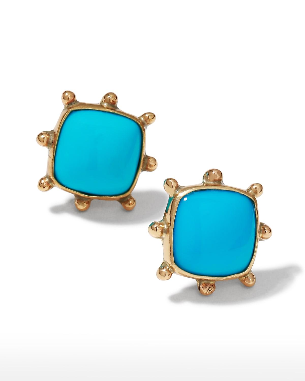 Sleeping Beauty Turquoise Pinwheel Earrings
