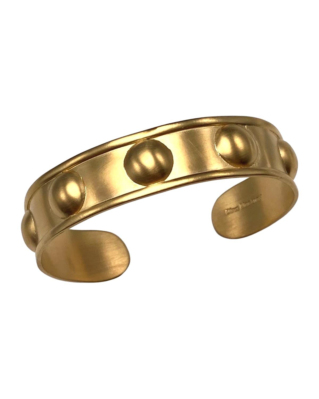 Gold Ball Mini Cuff Bracelet