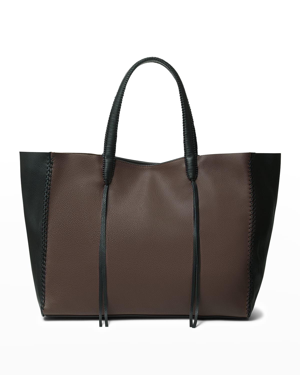 Duo Bicolor Leather Tote Bag