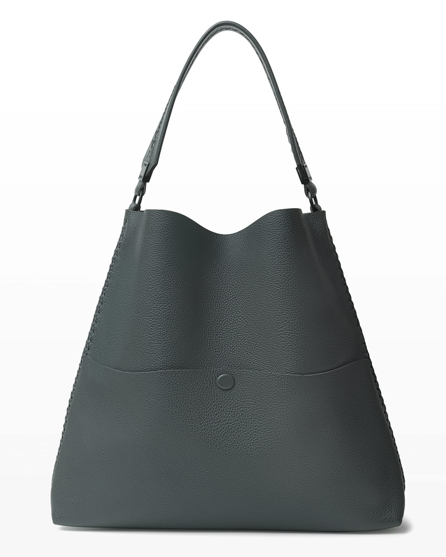 Slim Medium Leather Tote Bag