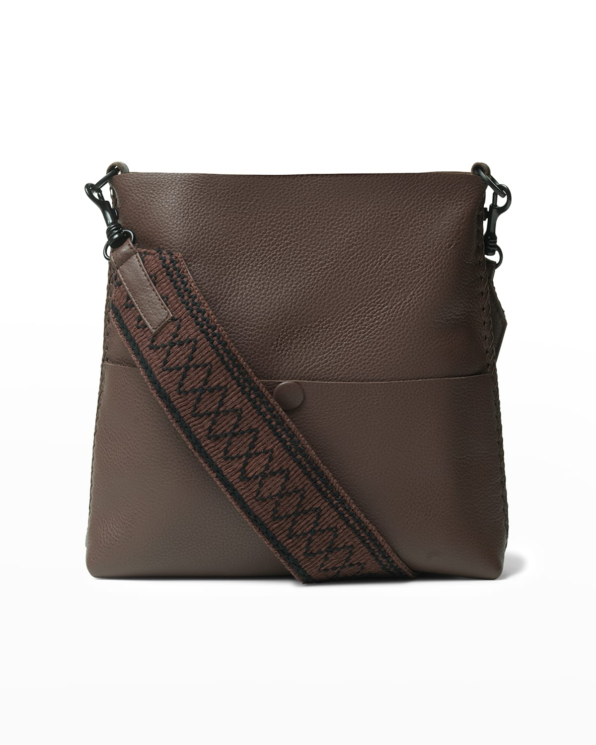 Marquise Grained Leather Slim Messenger Bag