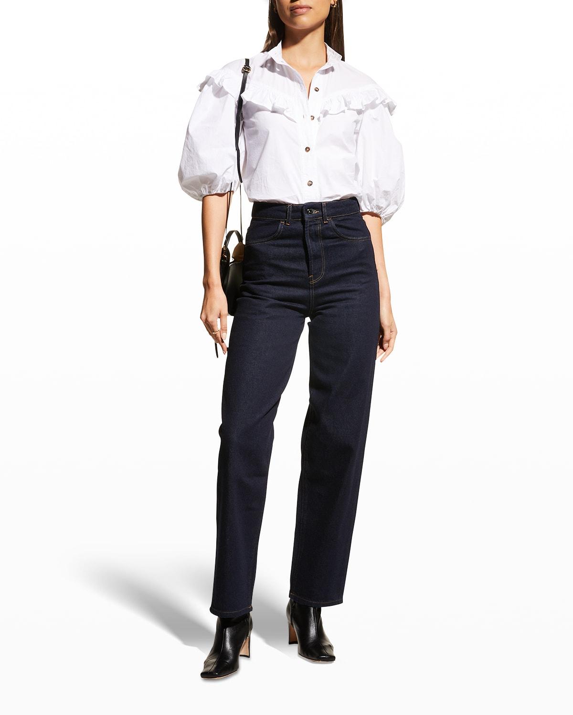 Dewi High-Rise Straight-Leg Jeans
