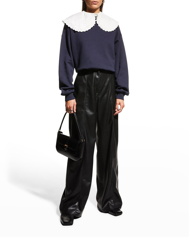 Viktoria Collared Sweatshirt