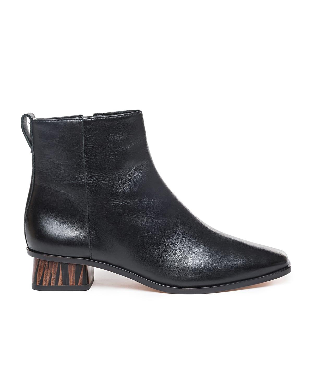 Helene Leather Zip Ankle Booties
