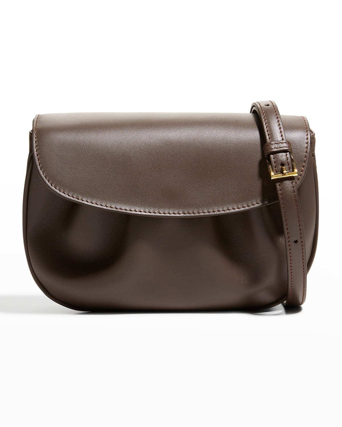 Dimple Ruched Flap Crossbody Bag