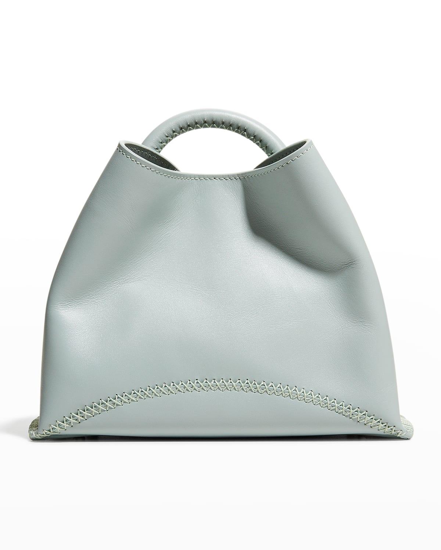 Baozi Stitch Leather Top-Handle Shoulder Bag