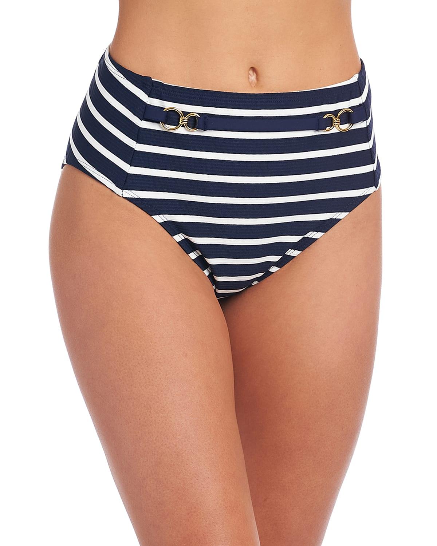 Capri Belted High Waist Bikini Bottoms