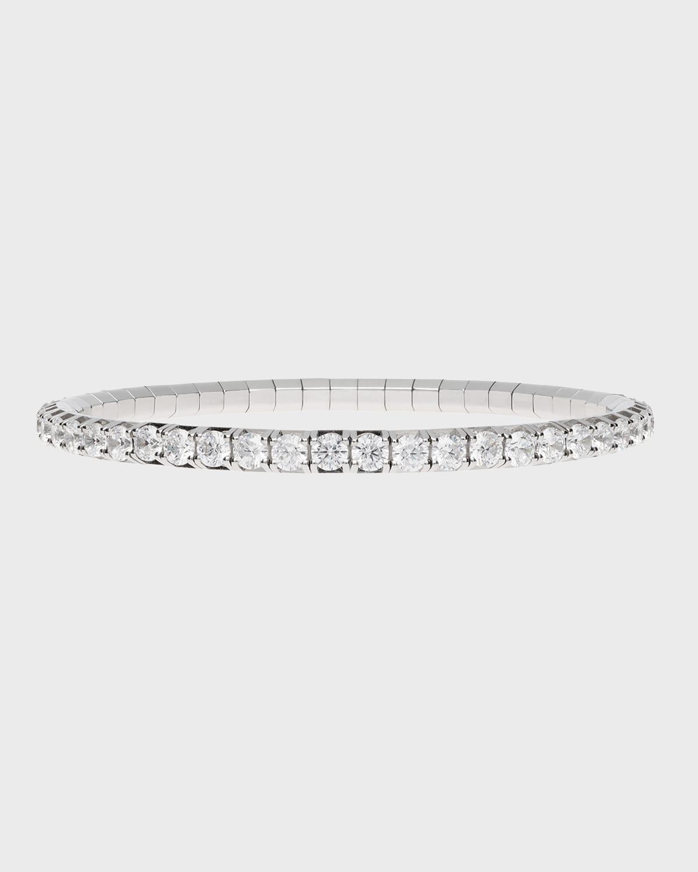 Round-Cut Diamond Stretch Tennis Bracelet