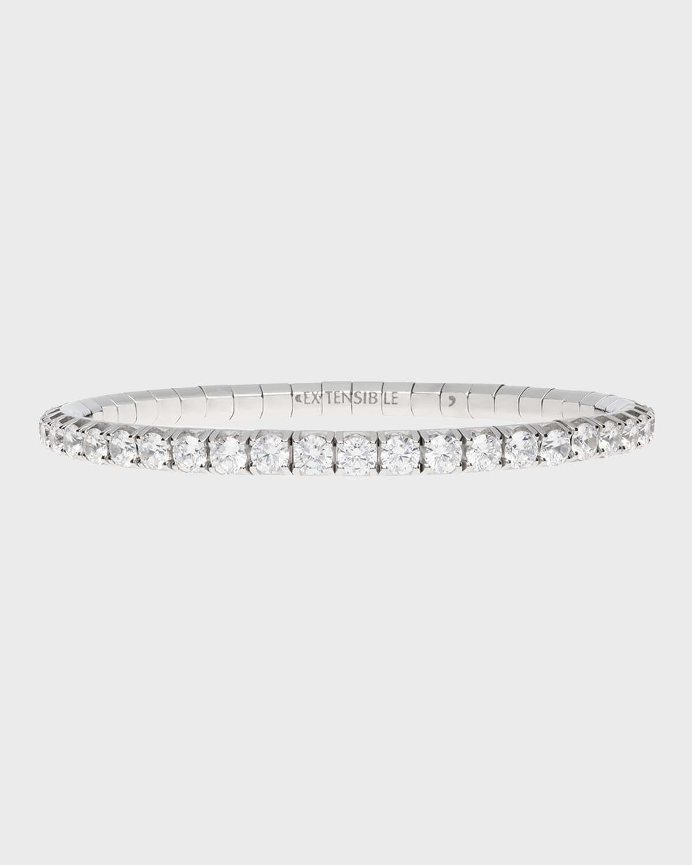 Round-Cut White Diamond Stretch Tennis Bracelet