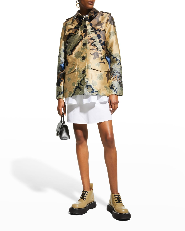 Tie-Dye Jacquard Safari Jacket