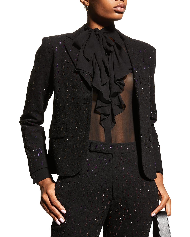 Oil Slick Embellished Blazer Jacket