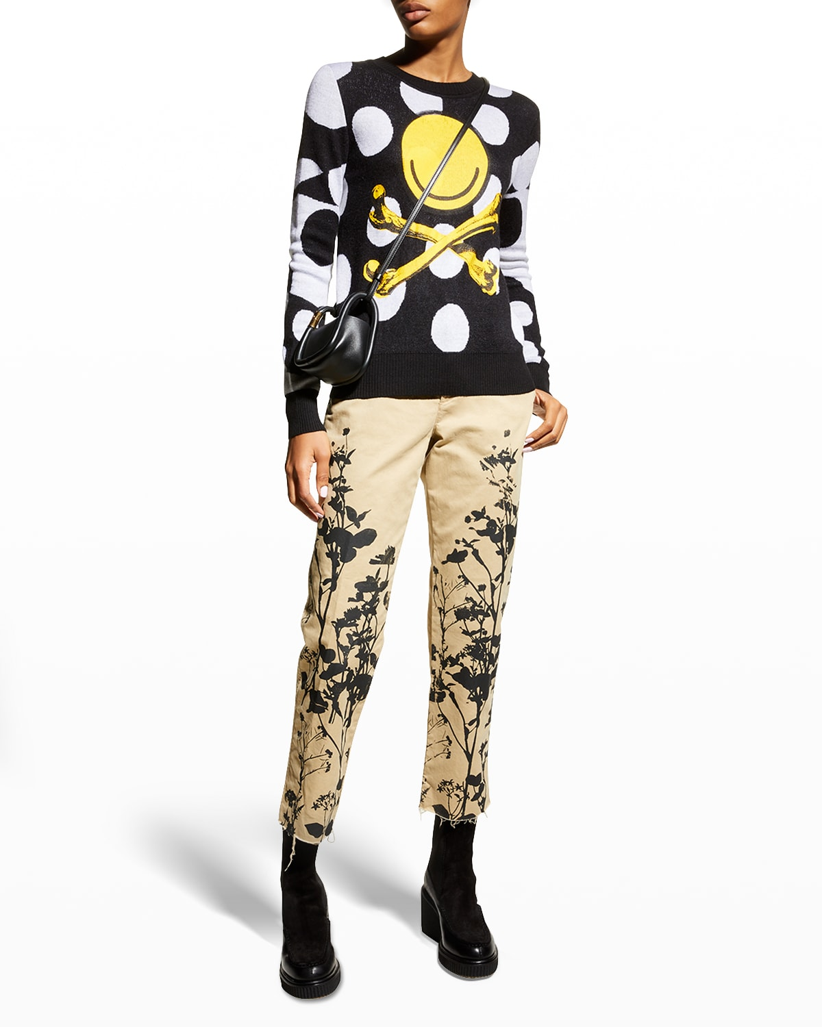 Libby Face & Crossbones Cashmere Sweater