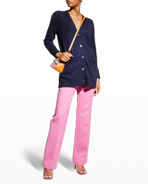 Oil Slick Embellished Cashmere Cardigan