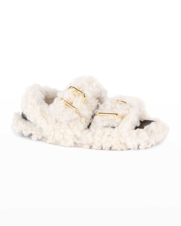 Fussbett Shearling Dual-Buckle Sandals
