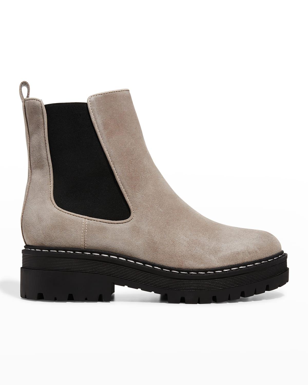 Privi Leather Chelsea Booties