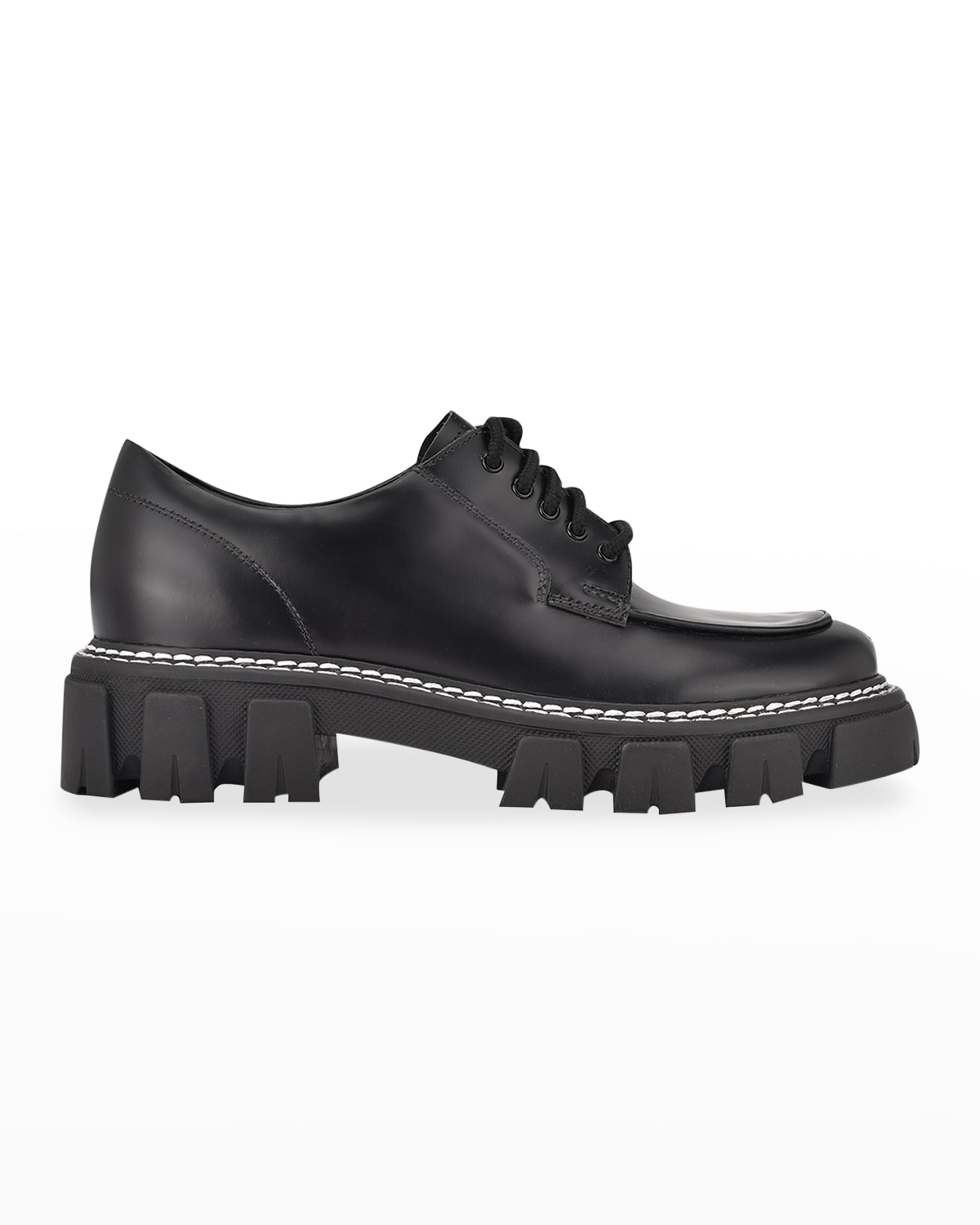 Dorin Leather Lug-Sole Oxford Loafers