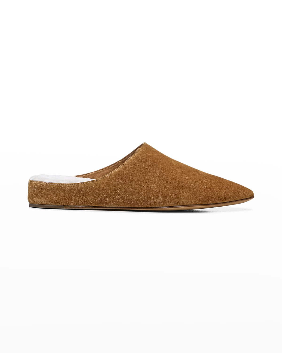 Frost Suede Shearling Ballerina Mules