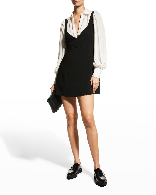 Ashley Long-Sleeve Mini Combo Dress