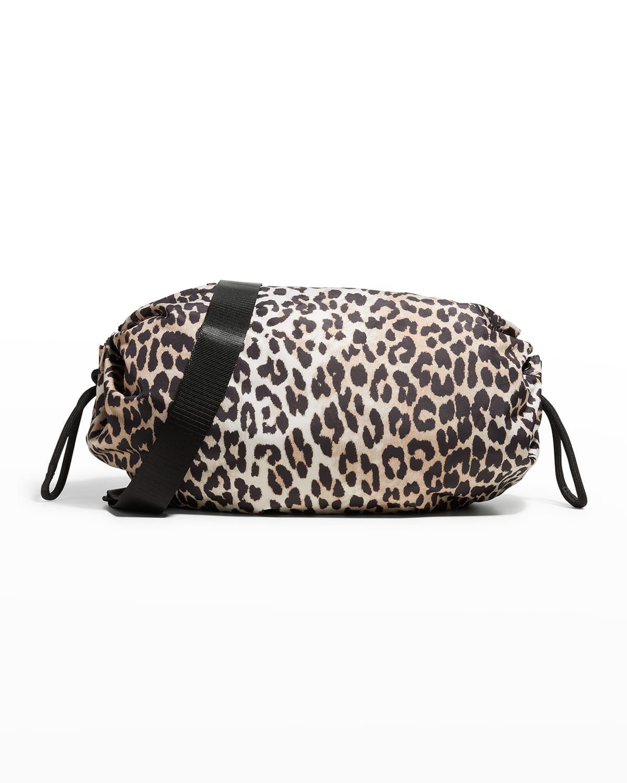 Leopard-Print Recycled Fabric Crossbody Bag