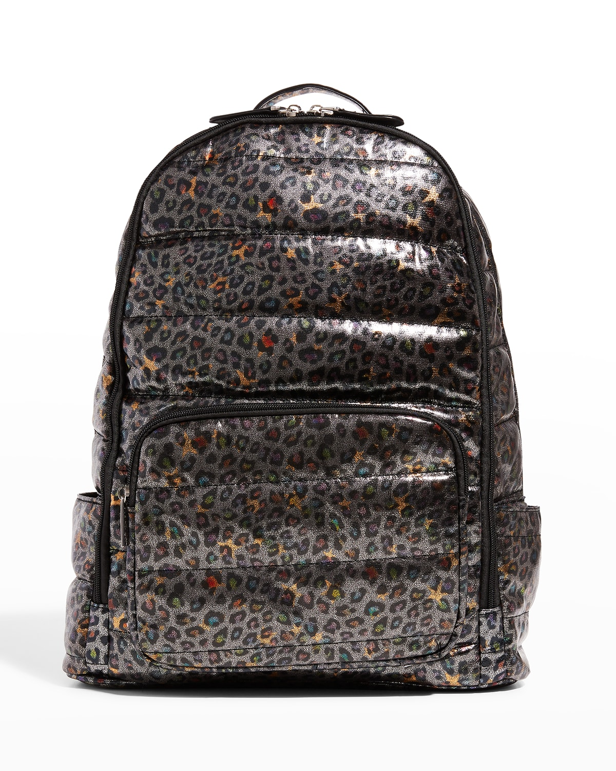 Kid's Leopard Quilted Puff Backpack
