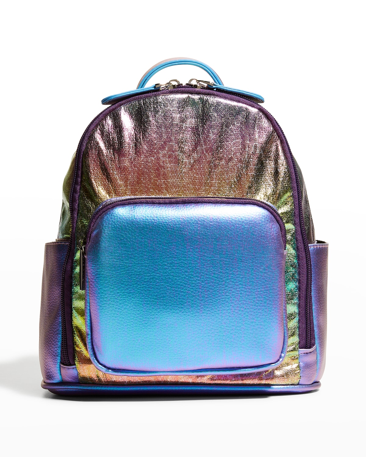 Kid's Mini Rainbow Ombre Faux-Leather Backpack