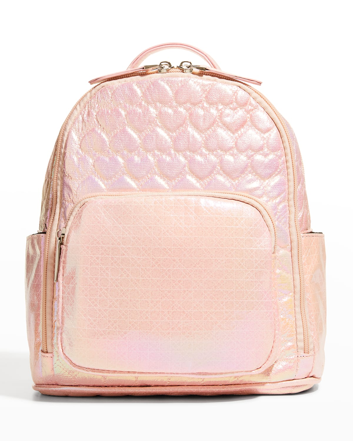 Kid's Heart Quilted Faux-Leather Backpack