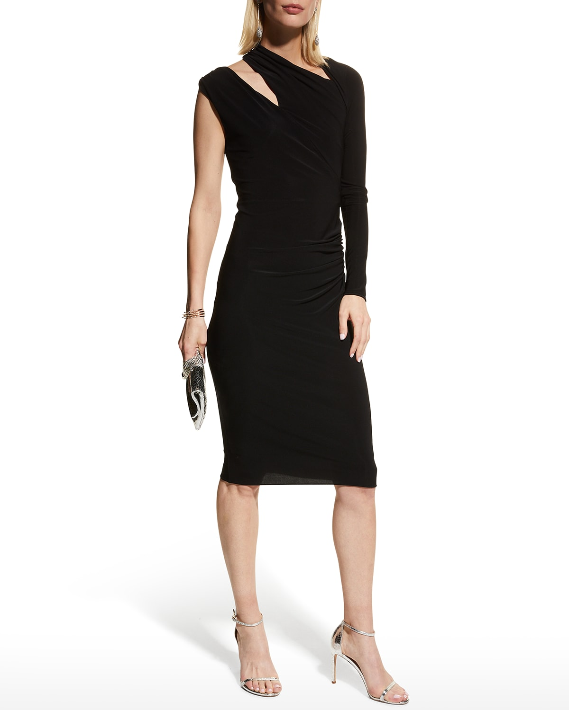 Evelyn Stretch Jersey Cutout Dress