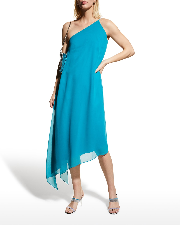 Blair One-Shoulder Chiffon Dress