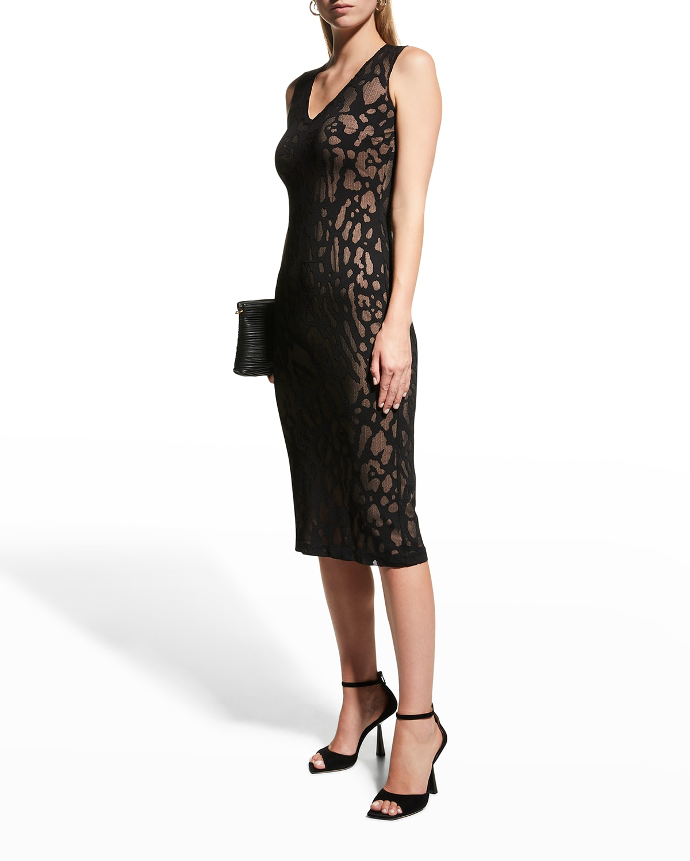 Marilyn Leopard Sheath Dress
