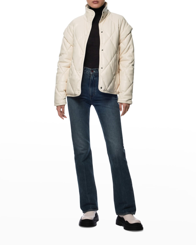 Liliane Puffer Vegan-Leather Jacket