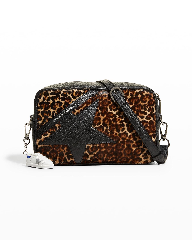 Star Leopard-print Fur Shoulder Bag