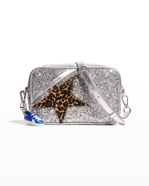 Star Glitter Leopard Shoulder Bag