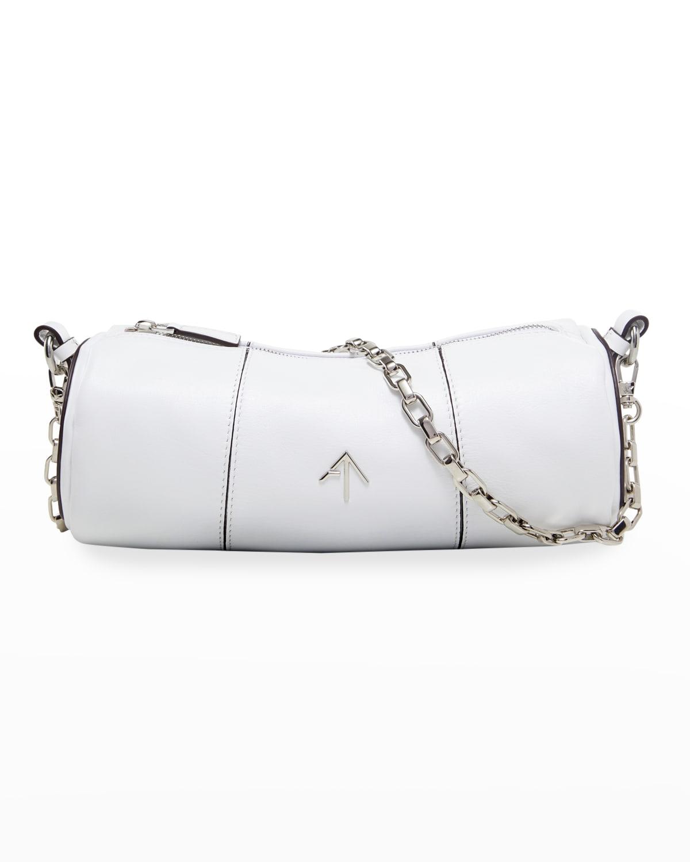 Cylinder Leather Chain Shoulder Bag