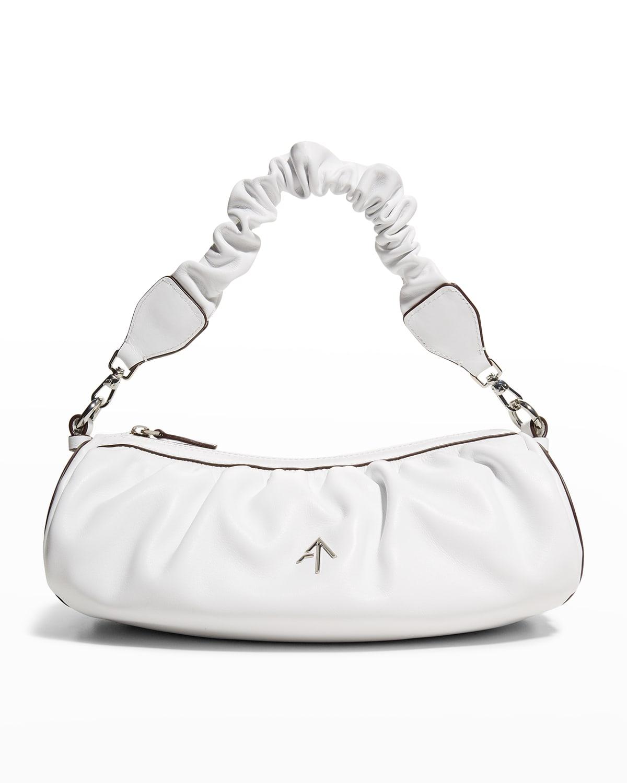 Ruched Cylinder Chain Shoulder Bag