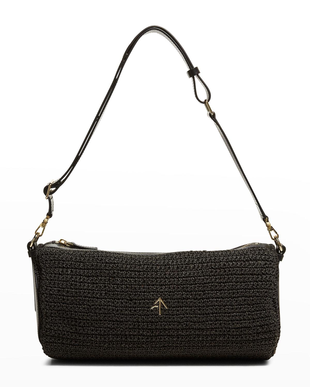 Oversized Cylinder Crochet Shoulder Bag