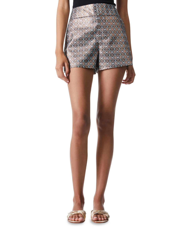 Cady High-Waist Clean-Waistband Shorts