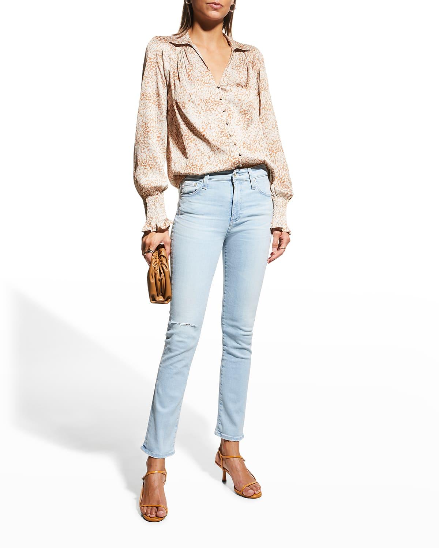 Mari Cropped Straight-Leg Jeans