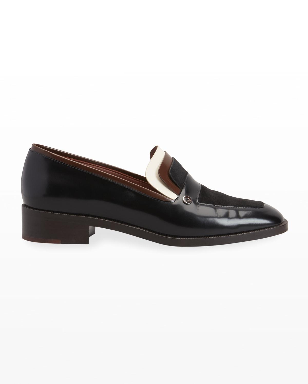 Eleonora Colorblock Moccasin Loafers