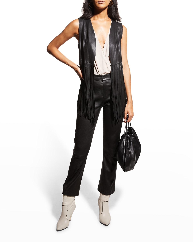 Sonia Fringed Leather Vest