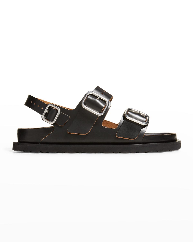 x Birkenstock Milano Double-Buckle Sporty Slingback Sandals