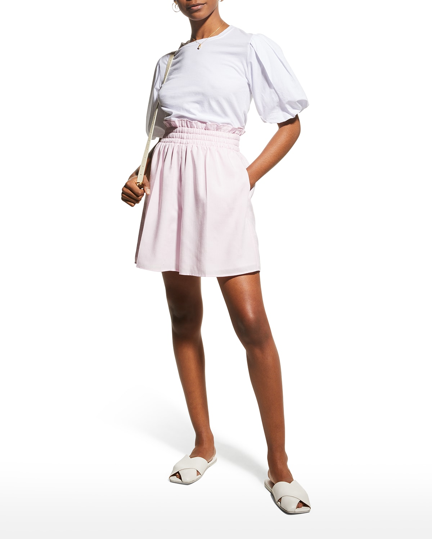 Heather Paperbag Linen Shorts