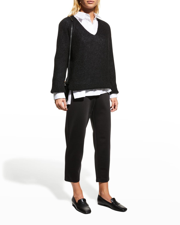 Gattoni Mohair-Blend V-Neck Sweater