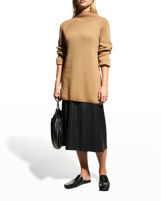 Carioca High-Waist Faux-Leather Skirt